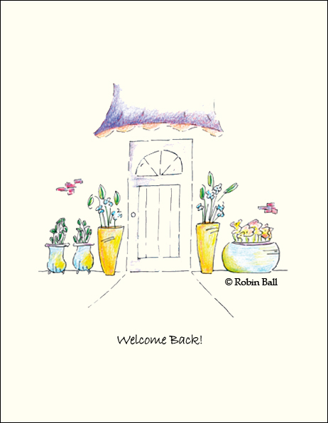 Welcome Blank Greeting Cards