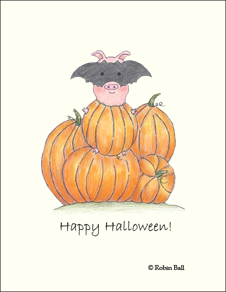 Halloween Pig Cards