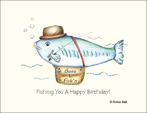 Fishing Birthday Cards gangcraftnet – Fish Birthday Cards