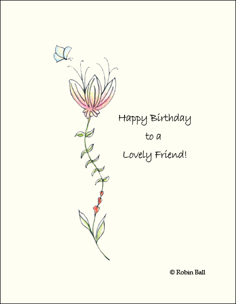 floral whimsical artists birthday cards - Birthday Card Art