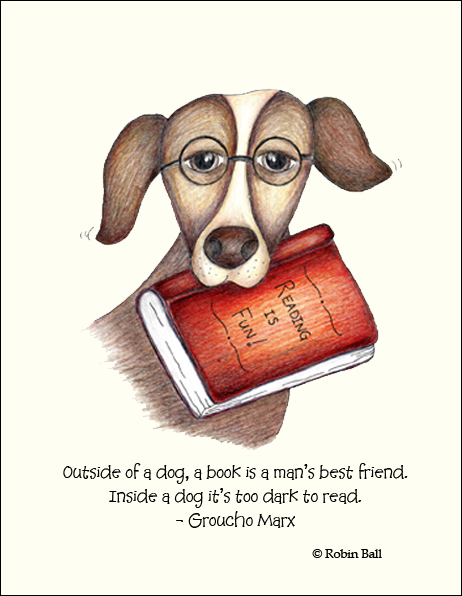 Dog Literary Whimsical Designs