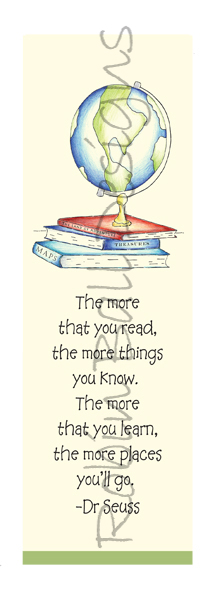 Humorous Dr Seuss More You Read Bookmark