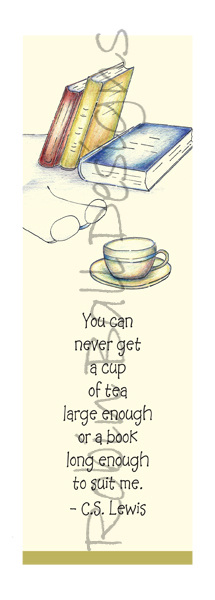 Tea and Book Inspirational Bookmarks