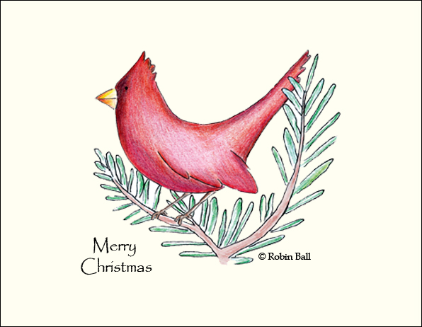 Personalized Christmas Cards with Cardinal