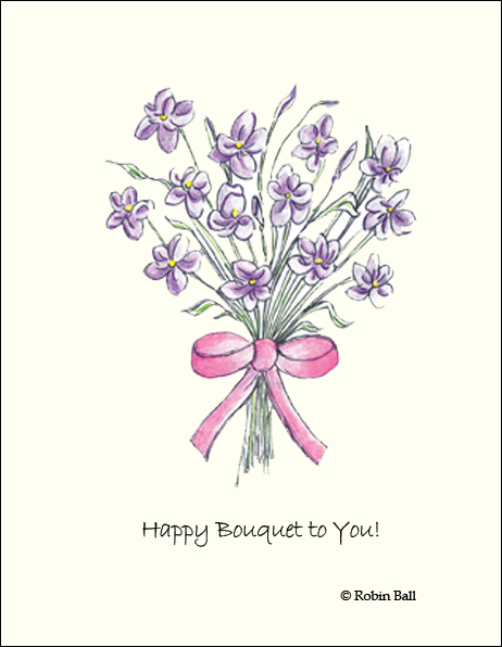 Flowers Birthday Boxed Greeting Cards