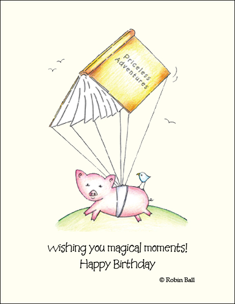 Pig Cards Boxed Greeting Card Artist