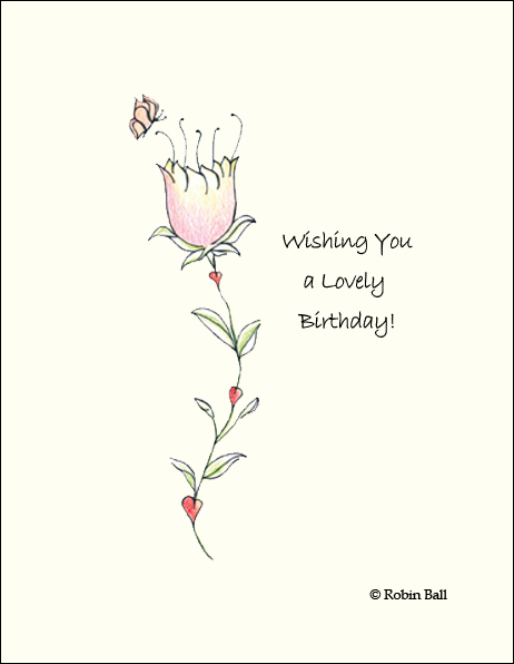 Flower Boxed Birthday Greeting Cards